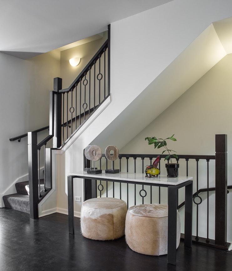 Evanston Interior Design, Remodeled Staircase