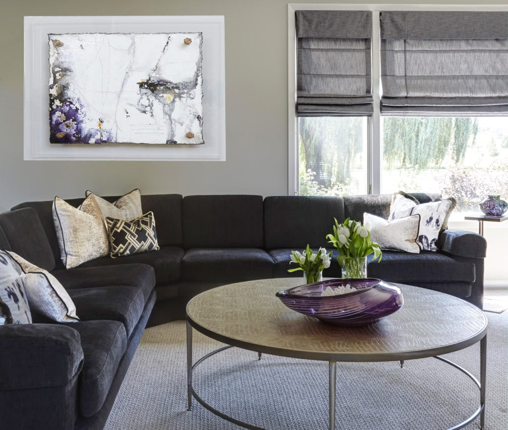 transitional interior design, living room